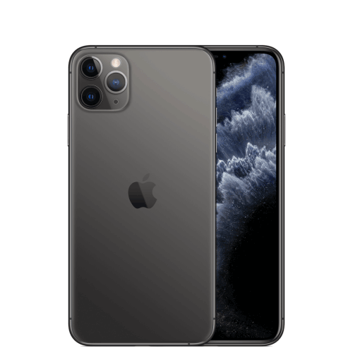 iPhone 11 pro space grey rear camera view