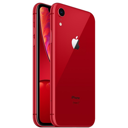 Apple iPhone XR 128GB Red front and back view