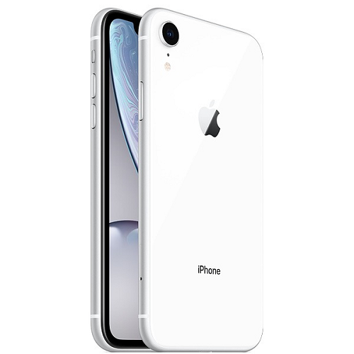Apple iPhone XR 128GB White front and back view