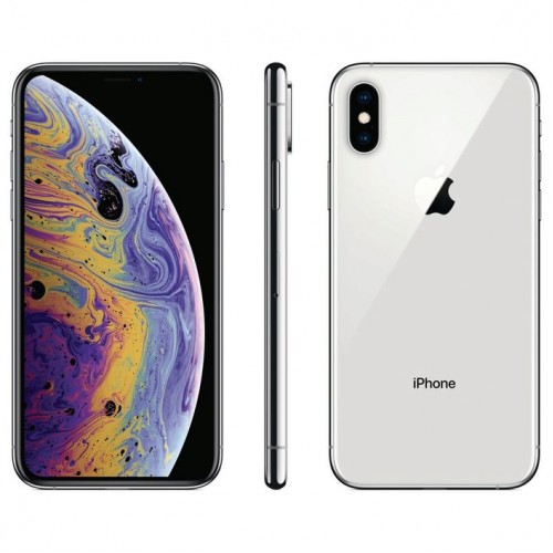 Apple iPhone XS Silver front and back view