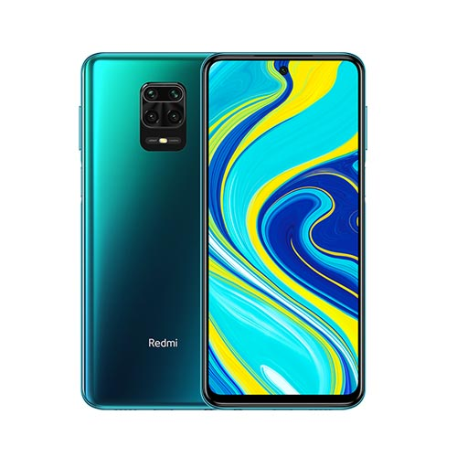 Redmi Note 9 Pro 128GB Tropical Green front and back view